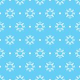 Patroon naadloze sneeuwvlok Royalty-vrije Stock Foto's