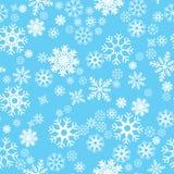 Patroon naadloze sneeuwvlok Royalty-vrije Stock Afbeelding