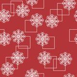 Patroon naadloze sneeuwvlok Royalty-vrije Stock Afbeeldingen