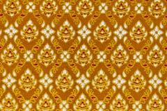 Patroon op de Thaise doek Stock Foto