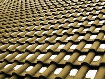 Patroon op een dak met sneeuw Stock Foto