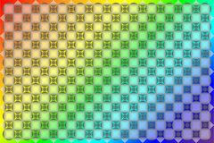 Patroon op een gekleurde achtergrond Stock Foto's
