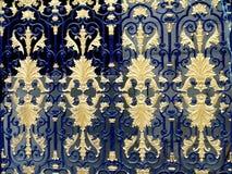 Patroon op een metaalpoort Royalty-vrije Stock Foto's