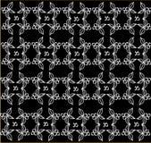 Patroon op een zwarte achtergrond Royalty-vrije Stock Foto's