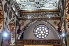 Patroon op het plafond van een kerk royalty-vrije stock foto