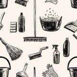 Patroon op het thema van het schoonmaken Stock Foto