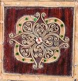 Patroon op muur in tempel Royalty-vrije Stock Foto