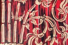 Patroon op muur in tempel Stock Foto