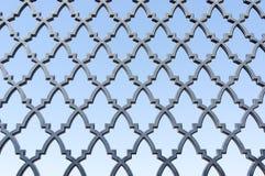 Patroon op poort Stock Foto's