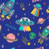 Patroon op ruimteonderwerp stock illustratie