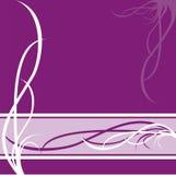 Patroon op violette achtergrond Stock Afbeelding