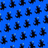 Patroon, ornament van dinosaurus Vector Reptiel in beeldverhaalstijl Een fantastisch schepsel Fabelachtig patroon voor stoffen en vector illustratie