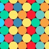 Patroon, ornament voor de dekking Vector Retro stijl Gekleurde cirkels op een donkere achtergrond Achtergrond voor uw ontwerplay- vector illustratie