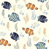 Patroon overzeese vissen vector illustratie