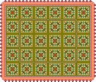 Patroon, populair motief, regelmatig motief, tafelkleed, beeld stock afbeelding