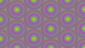 Patroon purpere cirkels met een optisch spiraalvormig effect met Royalty-vrije Stock Afbeelding