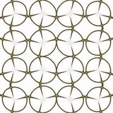 Patroon Regelmatig zwart-wit die gordijnpatroon in eieren wordt gericht Halftone rijke patroonillustratie Abstracte fractal zwart stock fotografie