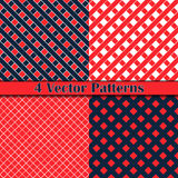 Patroon romb en vierkant Royalty-vrije Stock Afbeelding