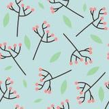 Patroon roze bessen Stock Afbeeldingen