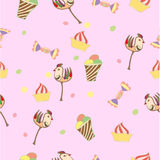 Patroon, roze, pastei, bevroren cake, Stock Foto
