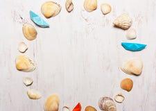 patroon, samenstelling van shells, hoogste mening Stock Afbeelding