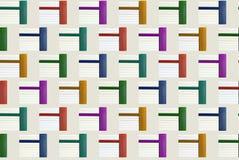 Patroon - stapel van boeken in kleur Stock Afbeelding