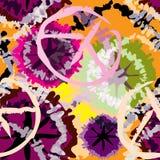 Patroon in stijl band-kleurstof stock illustratie