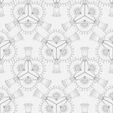 Patroon van abstracte geometrische elementen Stock Afbeelding