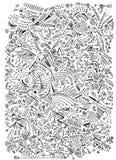 Patroon van abstracte vormen op witte achtergrond stock fotografie