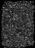 Patroon van abstracte vormen op witte achtergrond stock foto