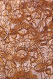 Patroon van achtergrond van de bloem de hout gesneden textuur Stock Foto