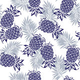 Patroon van ananas Stock Afbeeldingen
