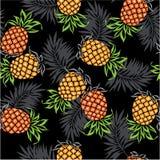 Patroon van ananas Stock Foto