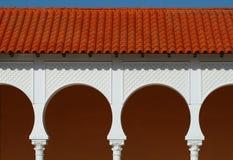 Patroon van behandelde arcade in Spaanse stijl. Royalty-vrije Stock Afbeelding