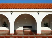 Patroon van behandelde arcade in Spaanse stijl. Stock Fotografie