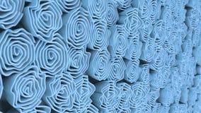 Patroon van blauwe bloemen Royalty-vrije Stock Foto