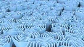 Patroon van blauwe bloemen Royalty-vrije Stock Afbeeldingen