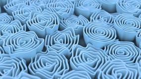 Patroon van blauwe bloemen Stock Fotografie