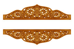 Patroon van bloem op hout voor decoratie wordt gesneden die Royalty-vrije Stock Fotografie