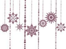 Patroon van bloemen en parels Stock Afbeeldingen
