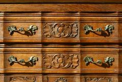 Patroon van bloemen woodcarving achtergrond Royalty-vrije Stock Foto's