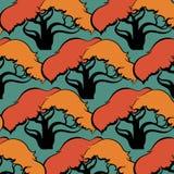 Patroon van bomen Royalty-vrije Stock Afbeeldingen