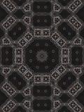 Patroon van caleidoscoop abstract grijs patroon Stock Fotografie