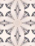 Patroon van caleidoscoop abstract grijs patroon Stock Foto's