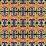 Patroon van de achtergrond het Naadloze Bandkleurstof Royalty-vrije Stock Foto
