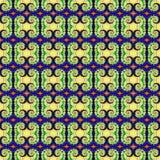 Patroon van de achtergrond het Naadloze Bandkleurstof Stock Fotografie