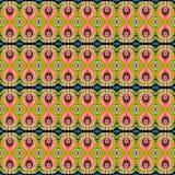 Patroon van de achtergrond het Naadloze Bandkleurstof Royalty-vrije Stock Foto's