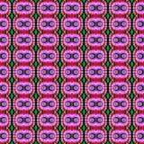 Patroon van de achtergrond het Naadloze Bandkleurstof Stock Afbeelding