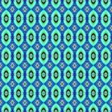 Patroon van de achtergrond het Naadloze Bandkleurstof Stock Afbeeldingen
