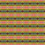 Patroon van de achtergrond het Naadloze Bandkleurstof Stock Foto's